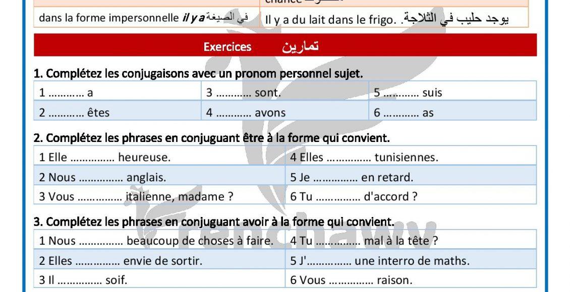 Grammaire Delf A1 Avoir Au Présent De L Indicatif - فرنشاوي à Pr?Sent De L'Indicatif