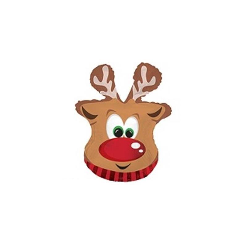 Grand Ballon Alu Géant En Forme De Renne De Noël à Nom Renne Pere Noel