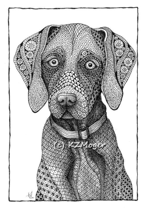 Grande Race Chien Portraits-Plus Grandes Par à Coloriage Labrador A Imprimer