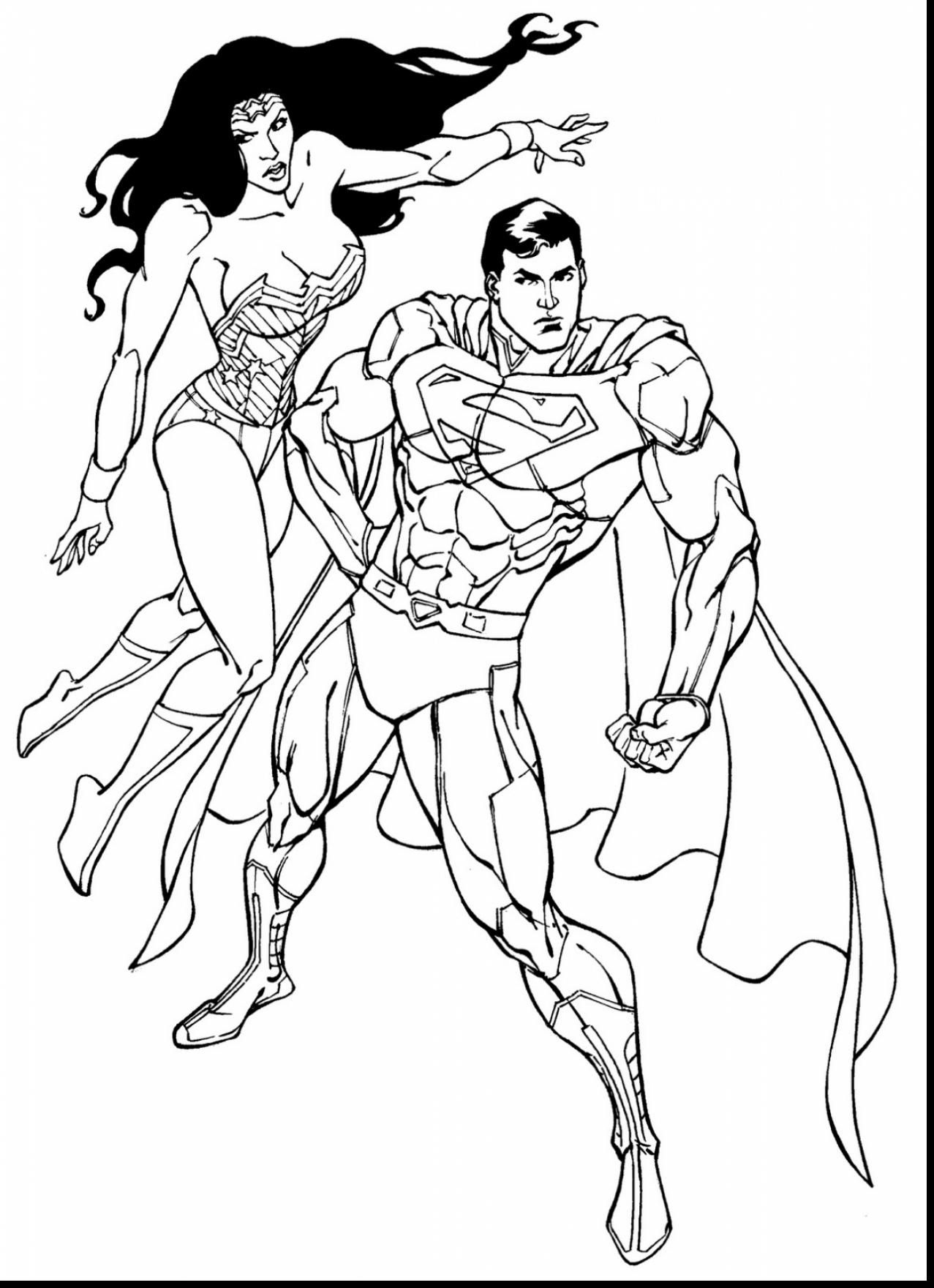 Great Superman And Wonder Woman Coloring Pages With pour Coloriage Wonder Woman A Imprimer