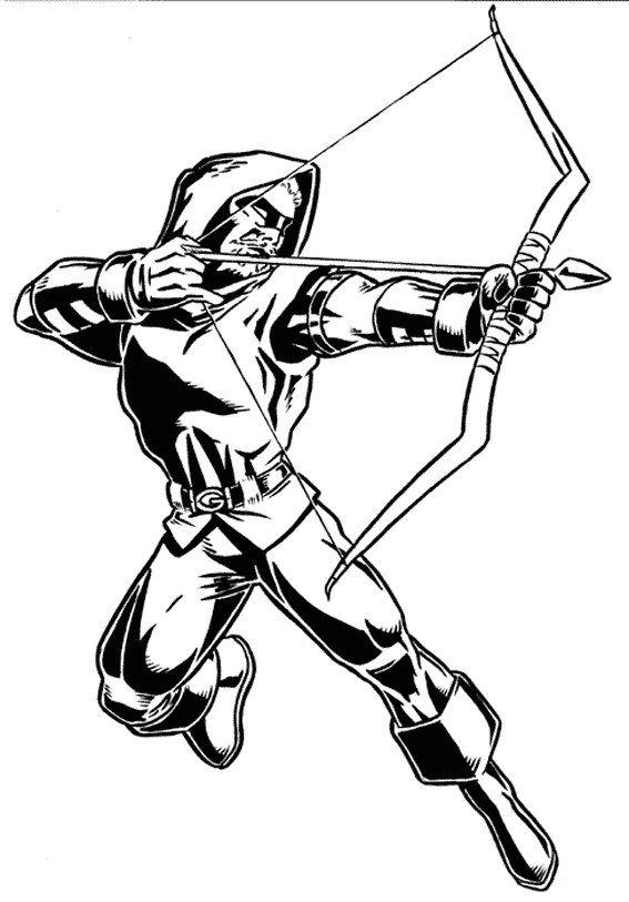 Green Arrow Coloring Pages | Superhero Coloring, Superhero dedans Coloriage Super Héros A Imprimer
