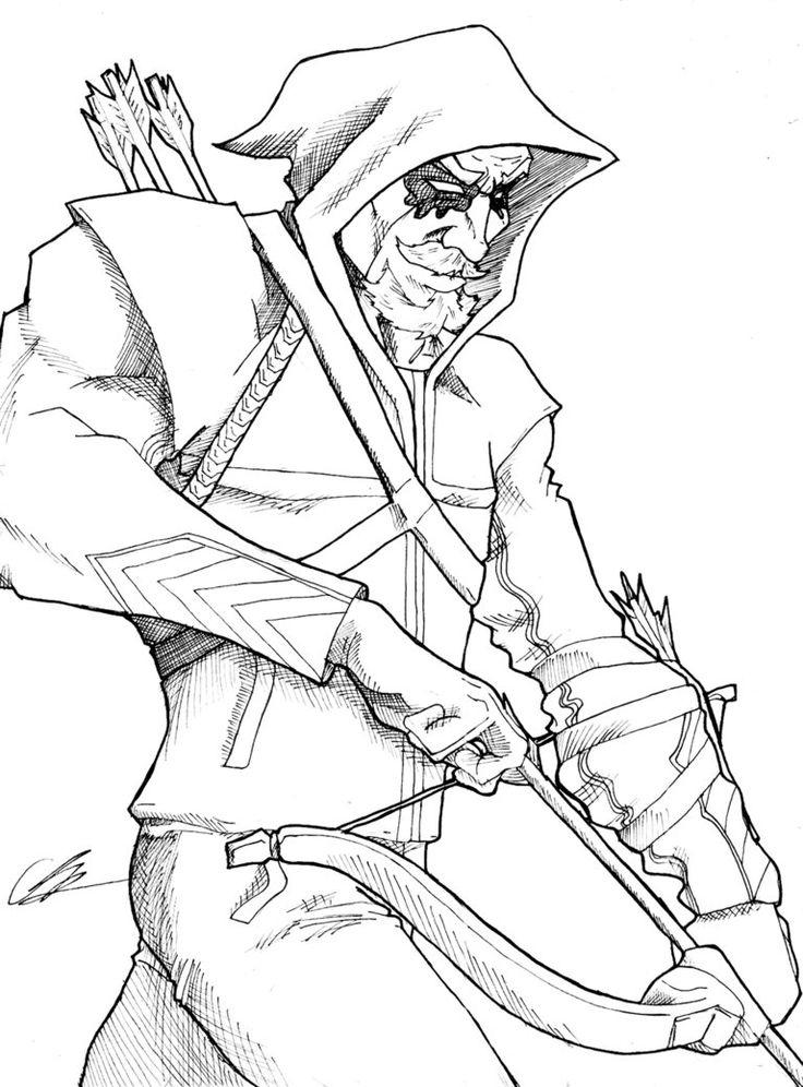 Green Arrow   Superhero Coloring Pages, Superhero Coloring tout Colloriage