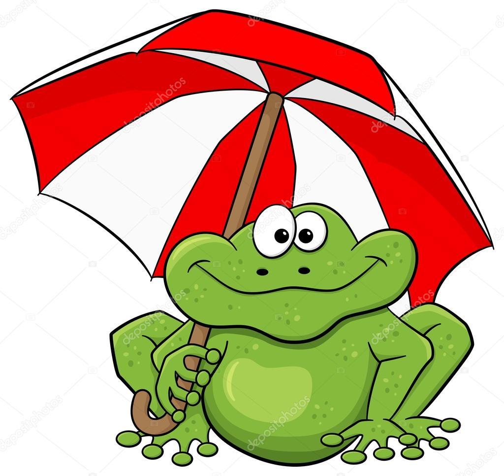 Grenouille De Dessin Animé Avec Parapluie — Image encequiconcerne Dessin Grenouille Verte