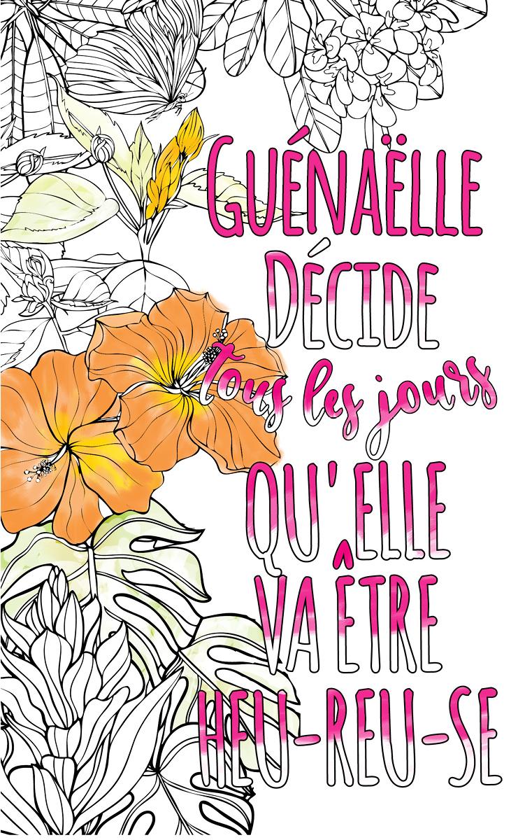 Guénaëlle Est Formidable. Le Livre Personnalisé De dedans Livre Coloriage Personnalisé