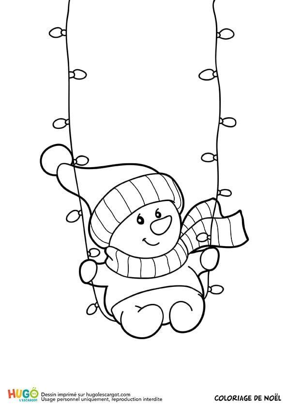 Guirlande De Noël Et Bonhomme De Neige (Avec Images avec Dessin De Petit Bonhomme