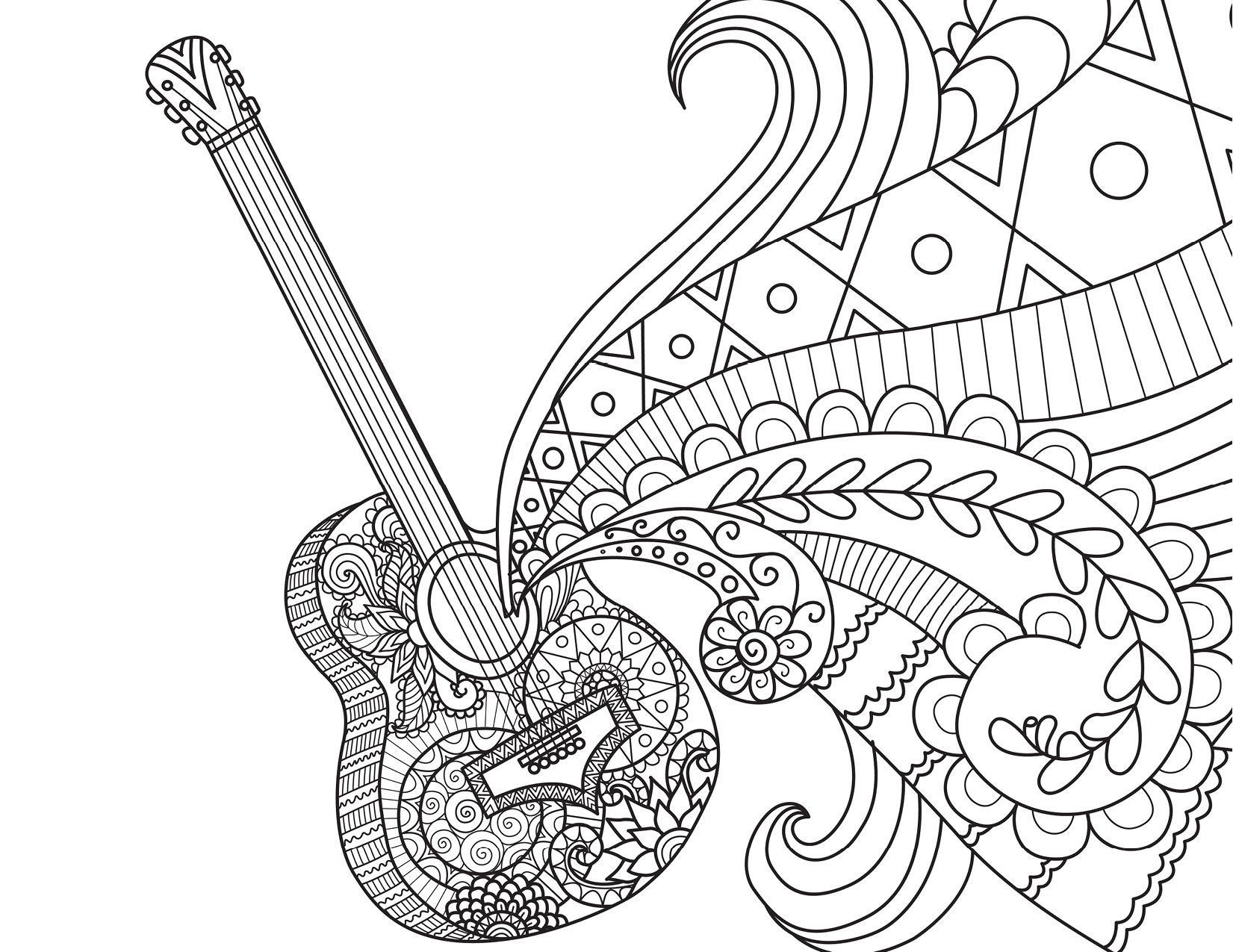 Guitare Disney Coco Movie Musique À Colorier Par Bimbimkha pour Coloriage Guitare