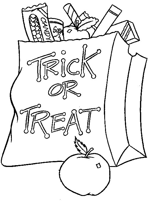 Halloween Colouring Pages For Kids Free Printables concernant Trick Or Treat Coloring Book: Trick Or