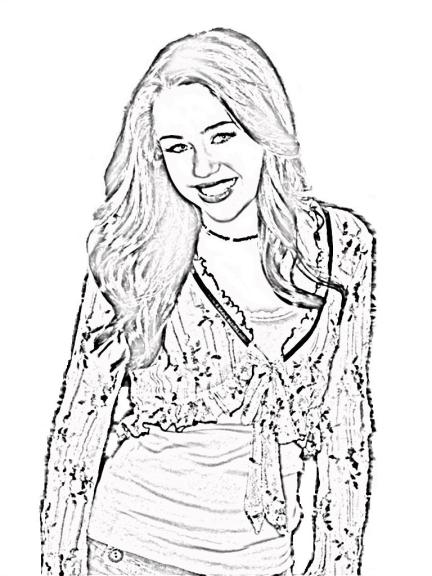 Hannah Montana : Coloriage Gratuit Hannah Montana À Imprimer dedans Coloriage Eva Queen A Imprimer