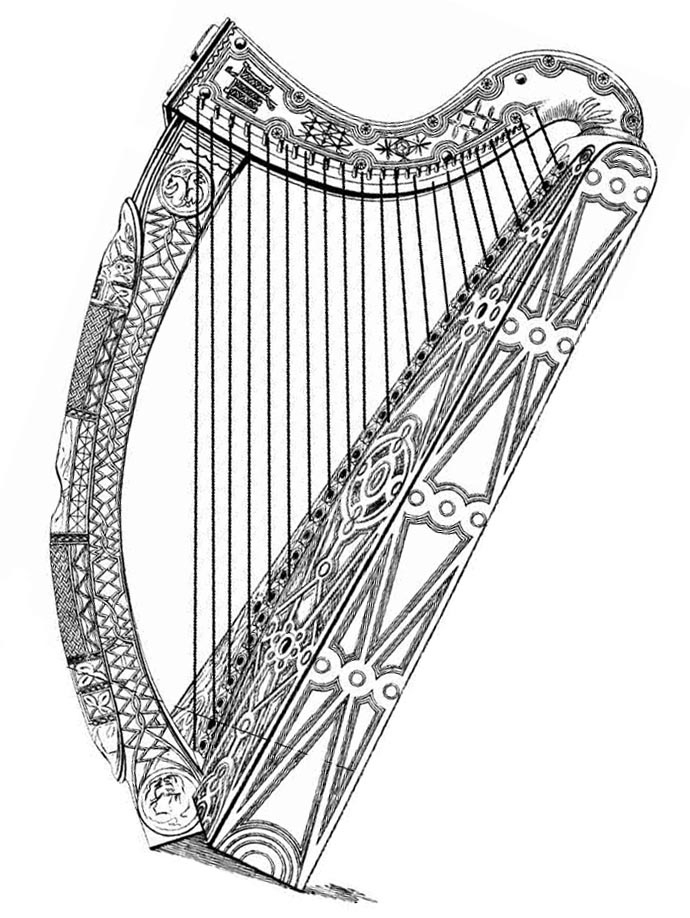 Harp Pictures, Pics, Images And Photos For Your Tattoo intérieur Dessin Harpe
