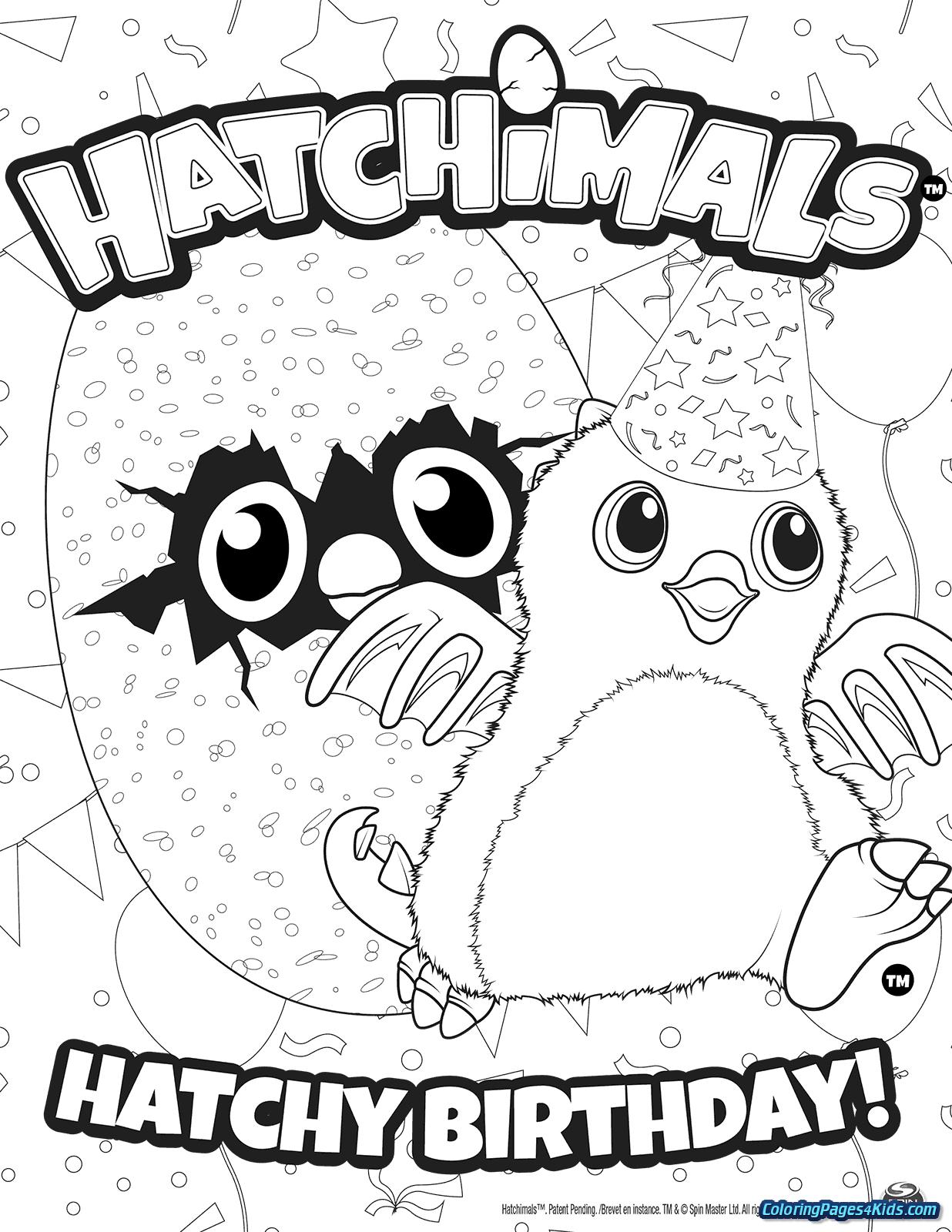 Hatchimals Coloring Pages - Coloring Pages For Kids à Coloriage Happy Color