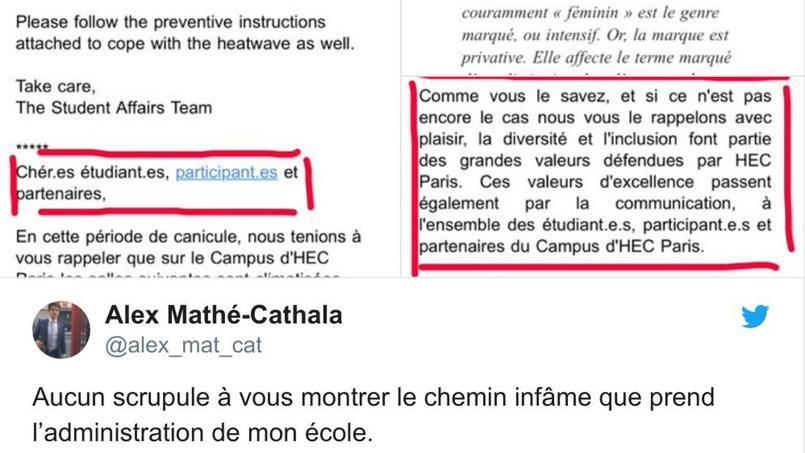 Hec: L'utilisation De L'écriture Inclusive Dans Les Mails serapportantà ?Criture Inclusive
