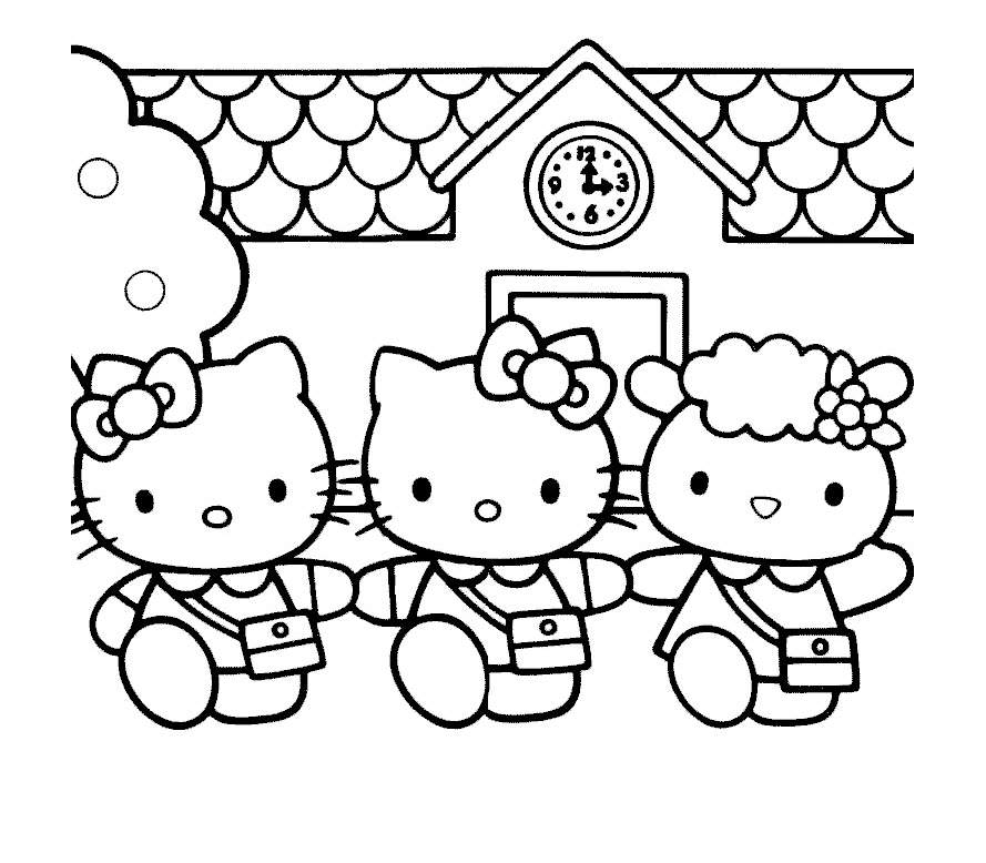 Hello Kitty 7 - Coloriages Hello Kitty - Coloriages destiné Dessin A Imprimer Hello Kitty