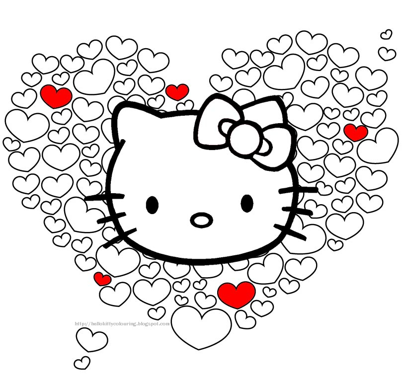 Hello Kitty Coloring Pages destiné Dessin À Imprimer Hello Kitty