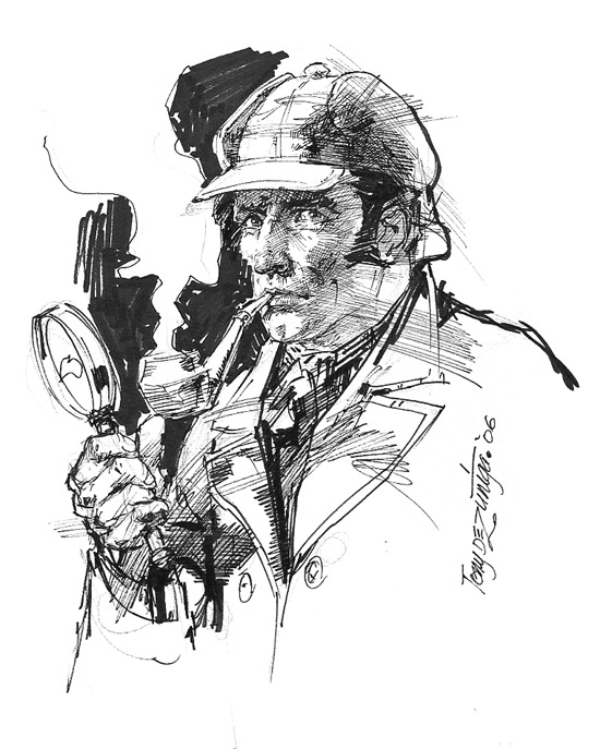 Hey Oscar Wilde! It'S Clobberin' Time!!! » Search Results serapportantà Dessin De Sherlock Holmes