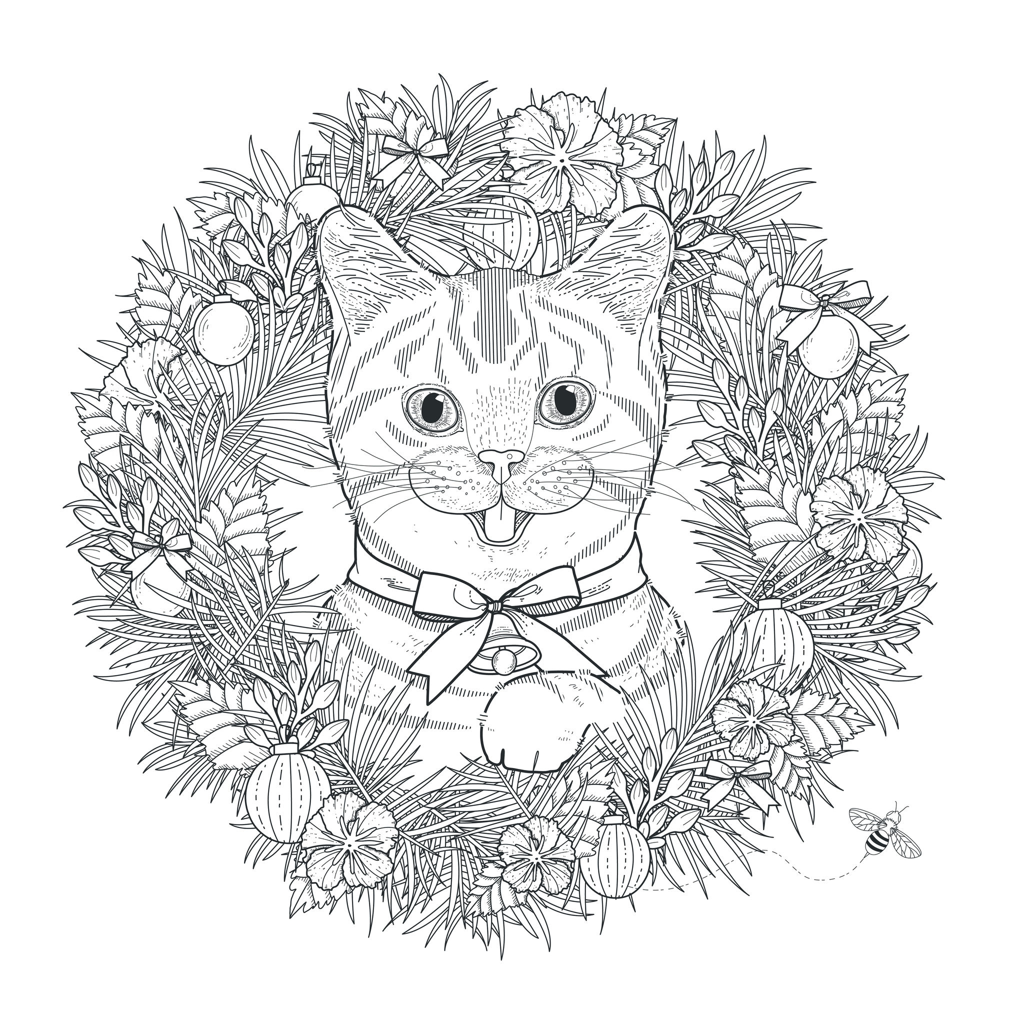 Hidden - The Blog Adult Coloring Pages tout Coloriage Chaton A Imprimer