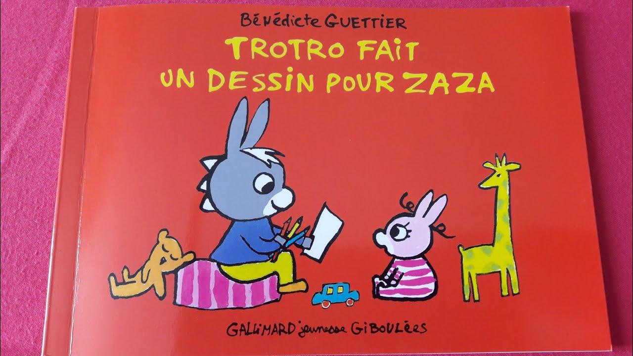 Histoire Pour Les Petits : Trotro Fait Un Dessin Pour Zaza tout Trotro Et Zaza
