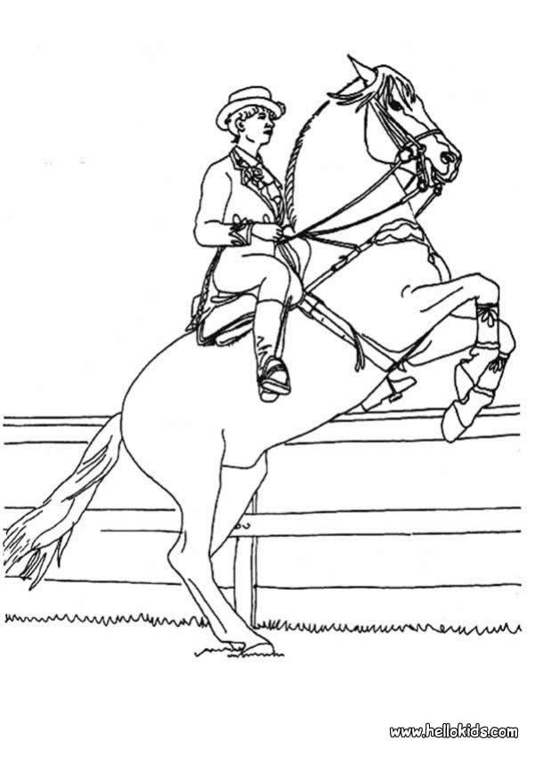 Horse Rider Coloring Pages - Hellokids avec Coloriage De Cavaliere