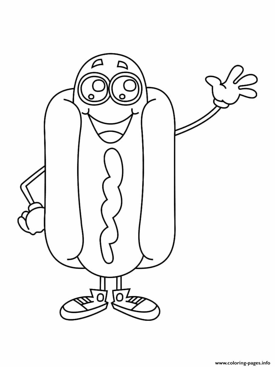 Hotdog Kawaii Coloring Pages Printable concernant Coloriage Kawaii A Imprimer