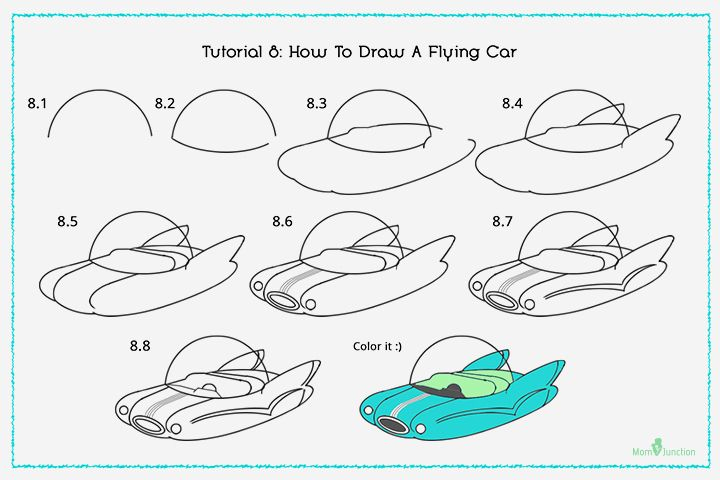 How To Draw A Car Step By Step For Kids? | Fly Drawing à Comment Dessiner Une Voiture Facile