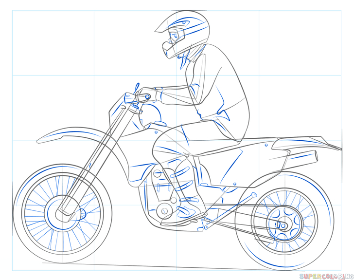 How To Draw A Dirty Bike | Step By Step Drawing Tutorials avec Moto Cross A Dessiner