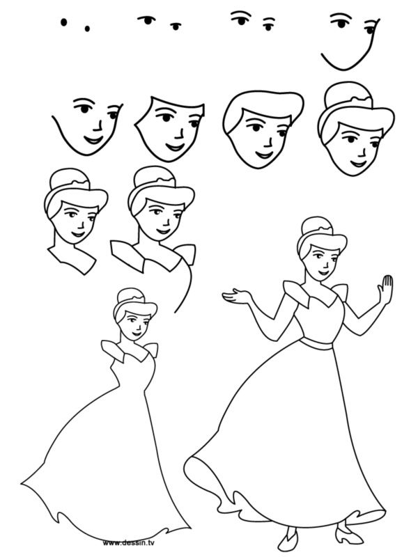 How To Draw Cartoon Eyes And Face | Disney Princess tout Comment Dessiner Une Princesse