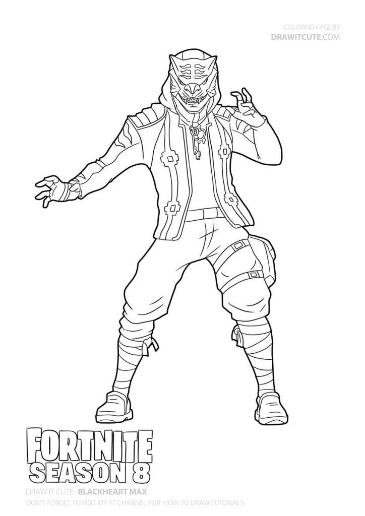 How To Draw Master Key Easy   Fortnite Season 8 Tutorial intérieur Dessin A Imprimer Personnage Fortnite