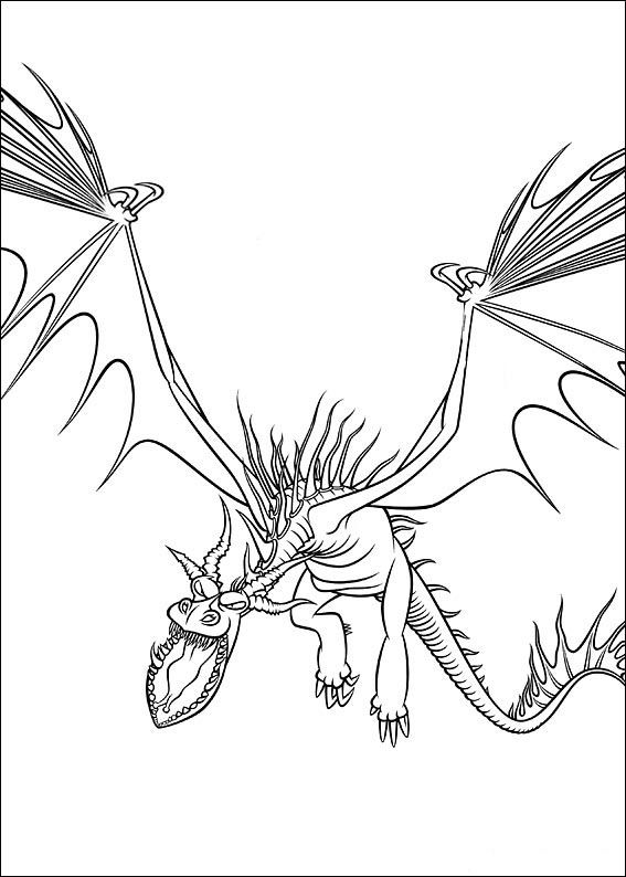 How To Train Your Dragon Coloring Pages For Kids pour Coloriage Difficile Dragon