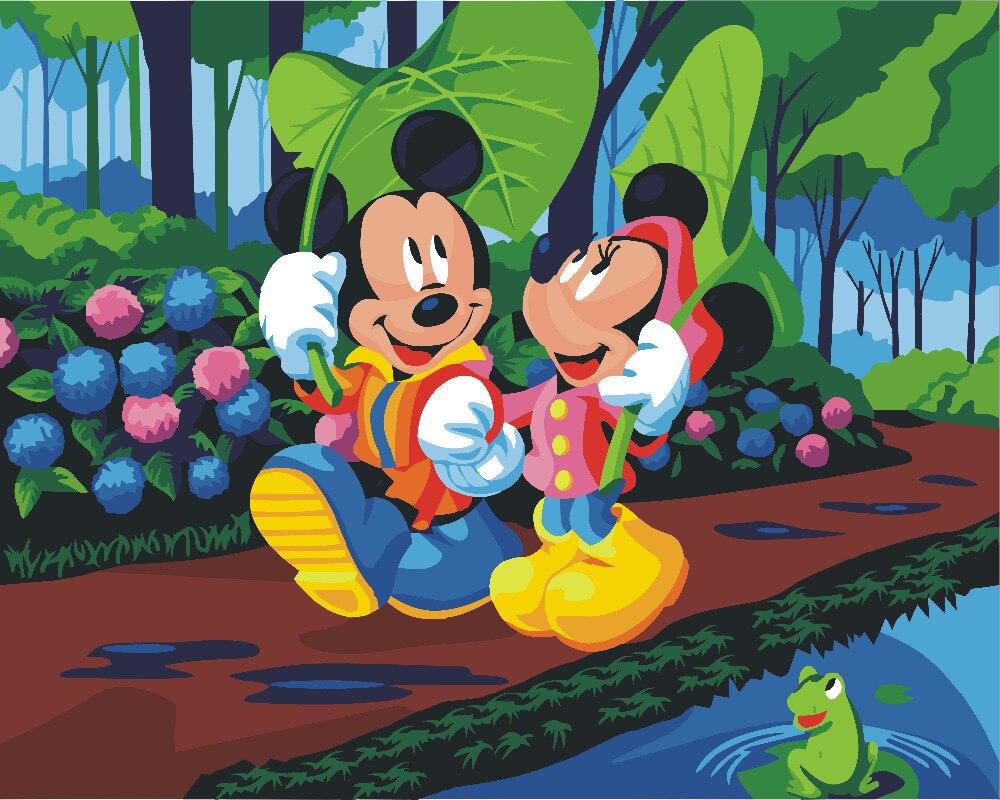 Hq Mickey Souris Dessin Animé Peinture Par Numéro Peinture pour Spielberg Desins Anim? Souris
