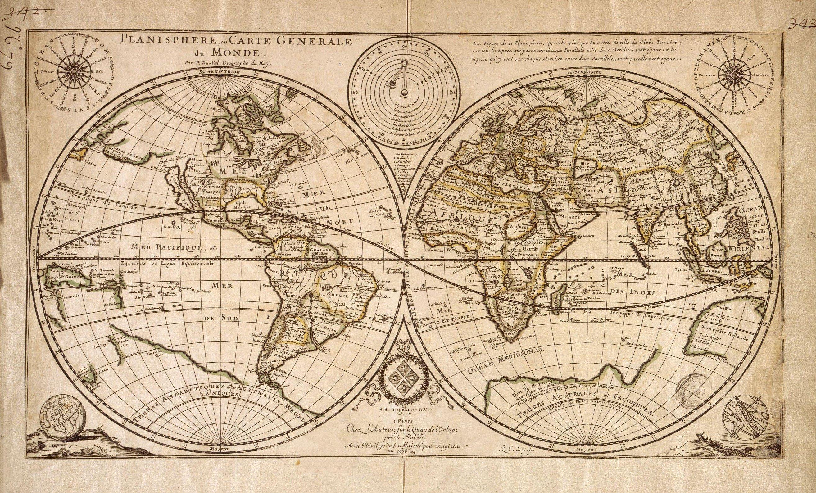 Http://Cartanciennes.free.fr//Maps/Planisphere_Duval encequiconcerne Mappemonde ? Imprimer