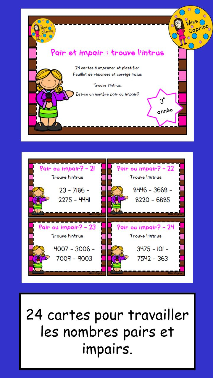 Https://.Teacherspayteachers/Product/Pair-Et-Impair dedans Nombre Pair Et Impair Ce2 A Colorier