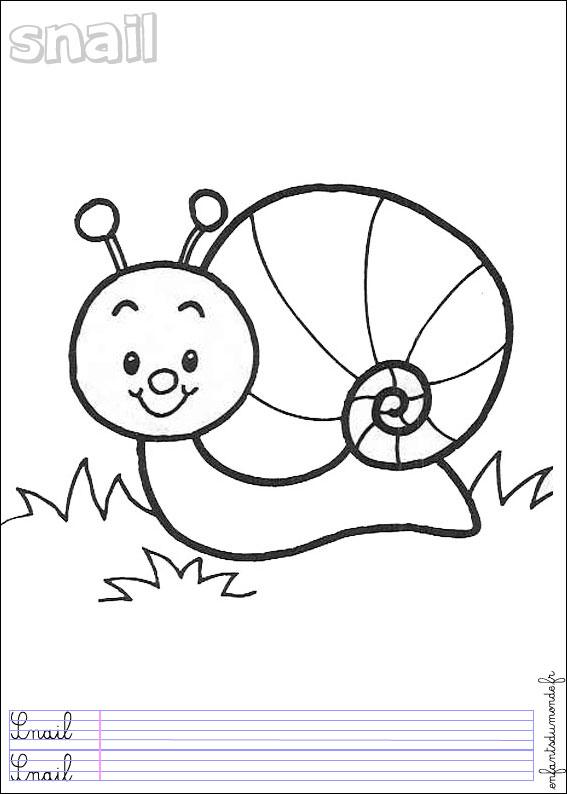 Hugo L'Escargot Dessin Chiffres à Hugo L'Escargot Coloriages