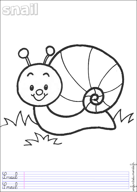 Hugo L'Escargot Dessin Chiffres pour Hugo L'Escargot Coloriage