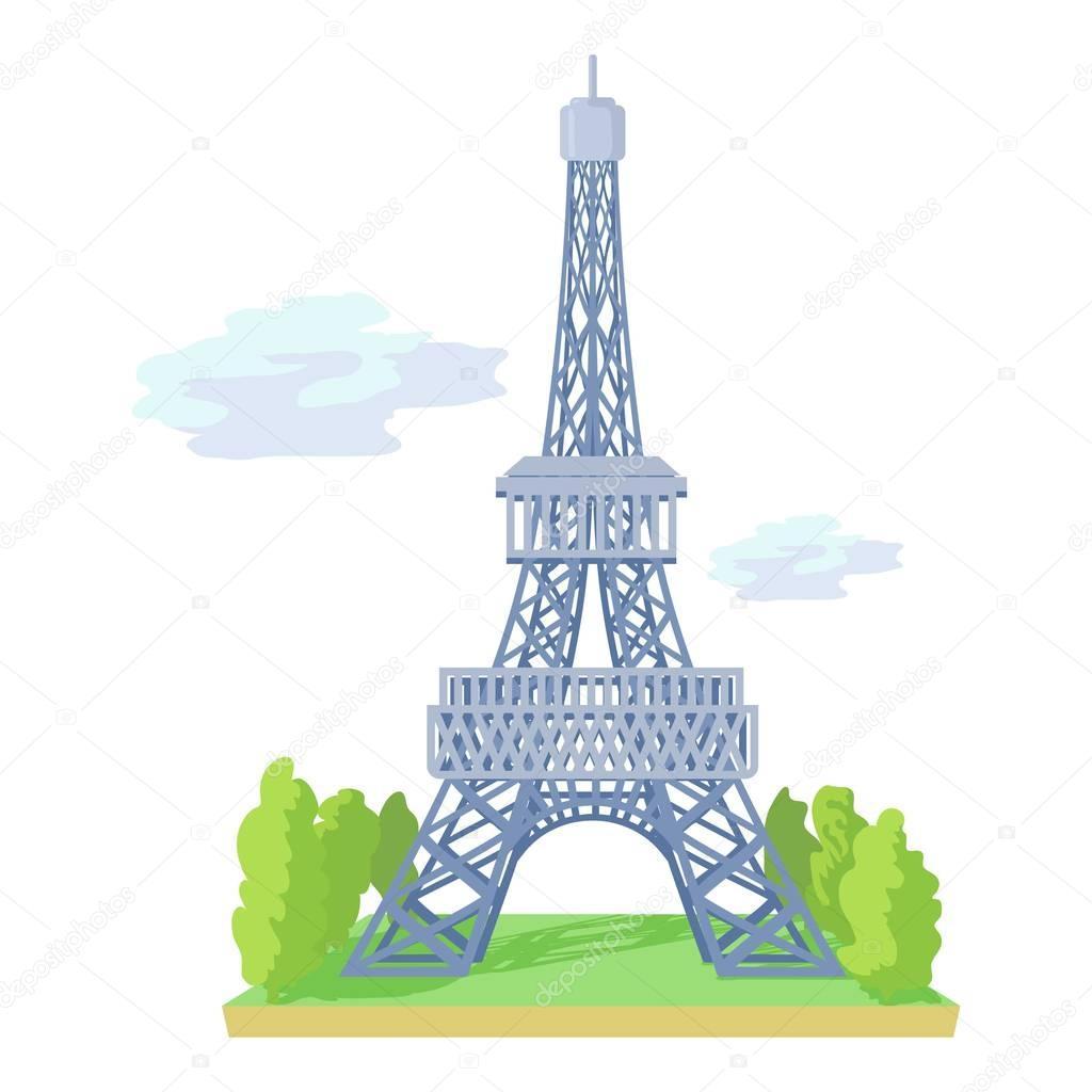 Icône De La Tour Eiffel, Style Cartoon — Image Vectorielle avec Tour Effel Dessin