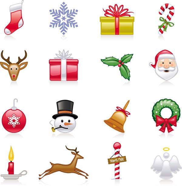 Icônes De Noël - Vector T¨¦L¨¦Chargement Gratuit De Vector serapportantà Symbole Noel