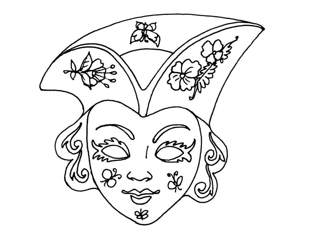 Idée Par Nadine Sur Coloriages | Coloriage Masque, Masque concernant Dessin Carnaval A Imprimer