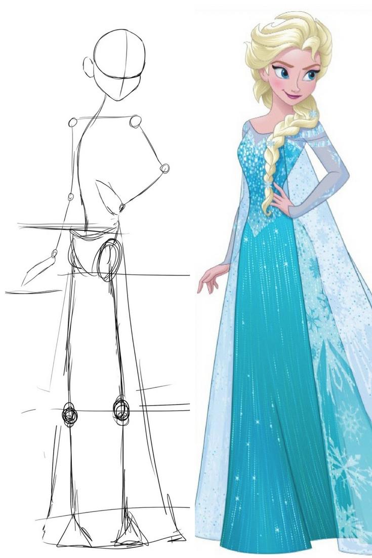 Idées Tendances Reproduire Dessin Princesse Disney Facile tout Comment Dessiner Une Princesse