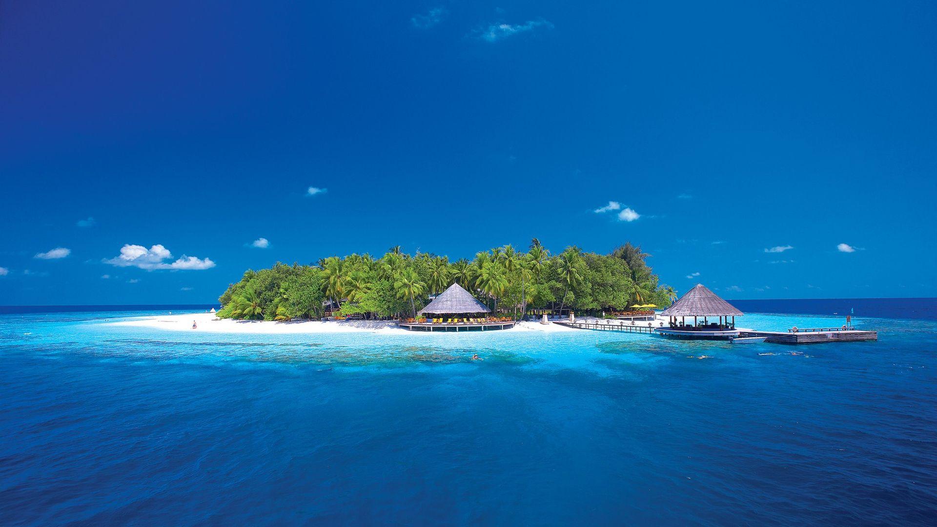 Île Paradisiaque - Fond D'Écran Hd à Dessin D Ile Paradisiaque