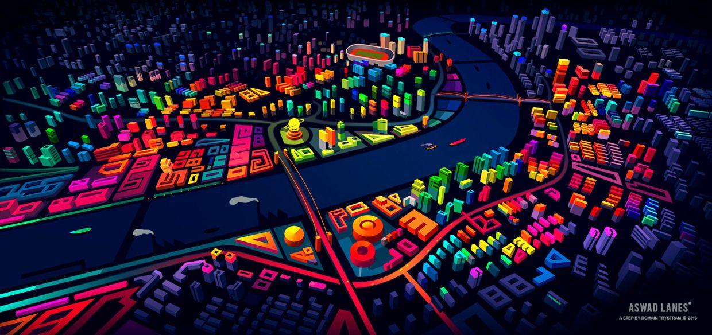Illustration Art Graffiti Cool Stunning Design Night City pour Graffiti Romain
