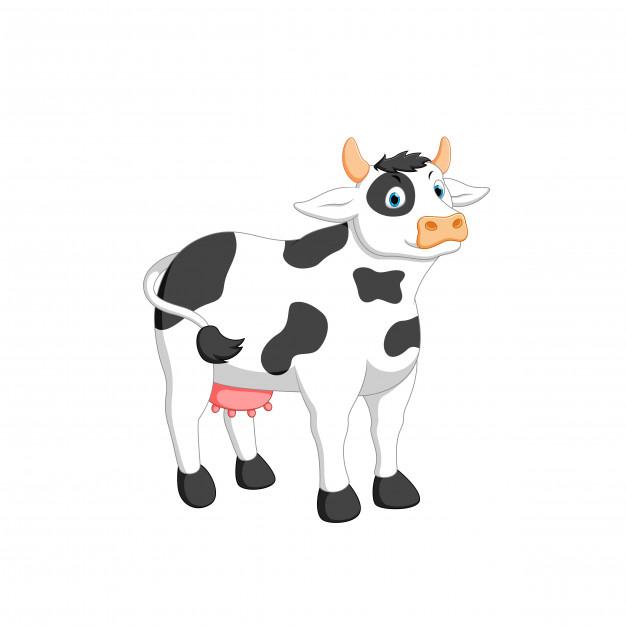 Illustration Vectorielle De Dessin Animé De Vache serapportantà Dessin D Une Vache