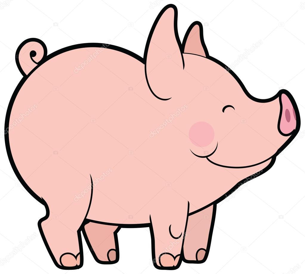 Illustration Vectorielle D'Une Bande Dessinée Porcine intérieur Dessin Petit Cochon