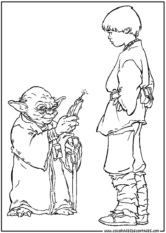 Image A Colorier Star Wars pour Coloriage Star Wars A Imprimer