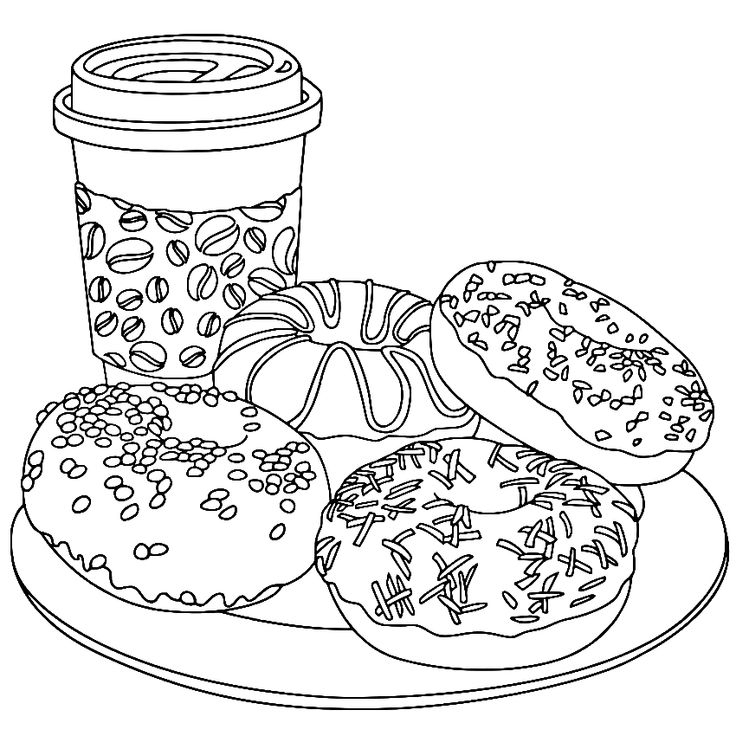 Image By Pam Vallquist On Color Coffee | Printable Adult tout Coloriage Chocolat