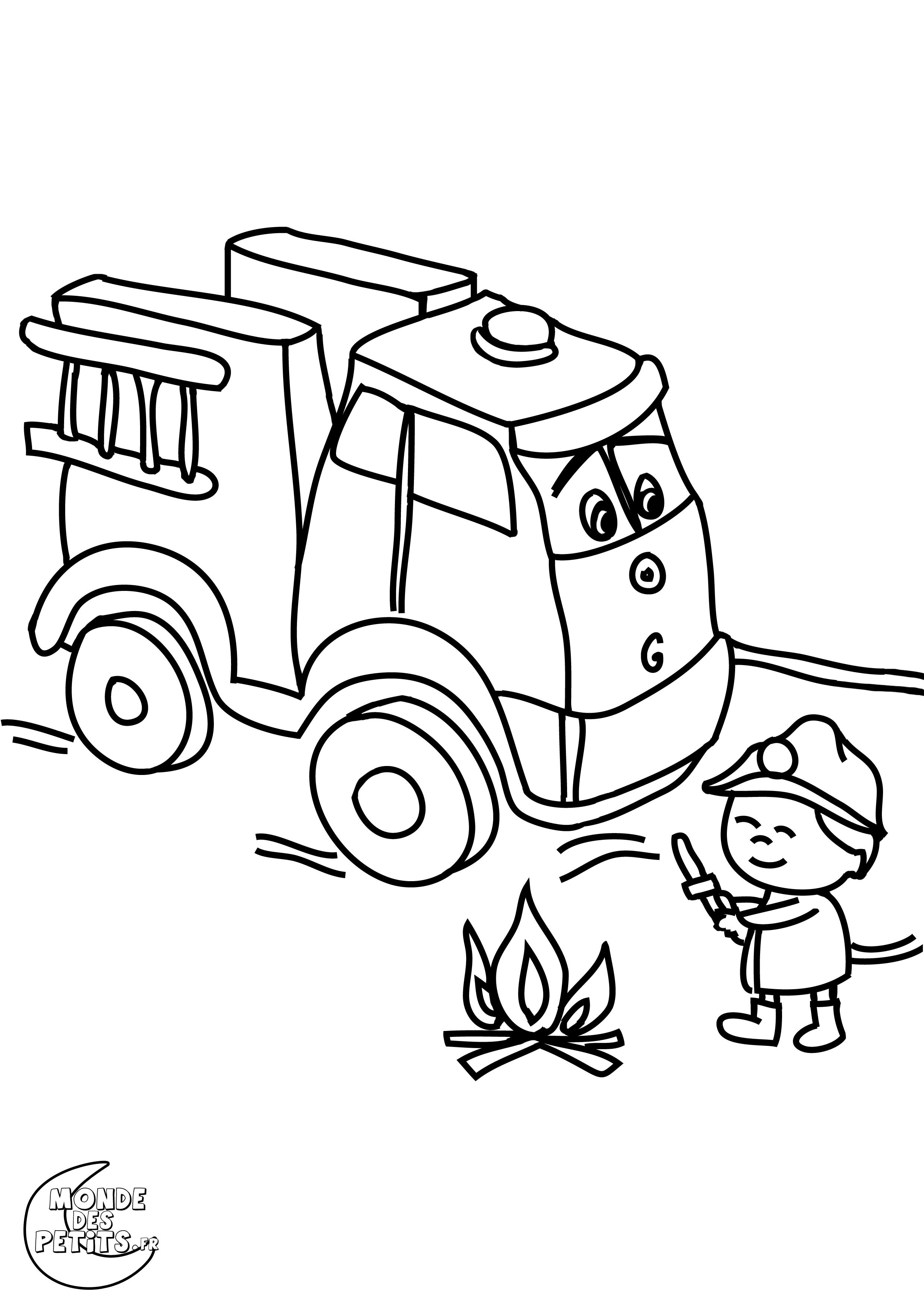 Image Camion Pompier Dessin à Dessin Sapeur Pompier