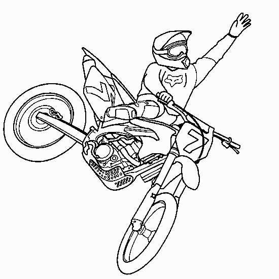 Image Casque Moto Cross Dessin intérieur Moto Cross À Colorier