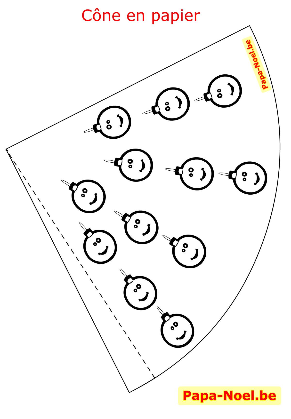 Image De Cône En Papier Apprendre À Fabriquer Decorer dedans Décoration De Noel À Imprimer