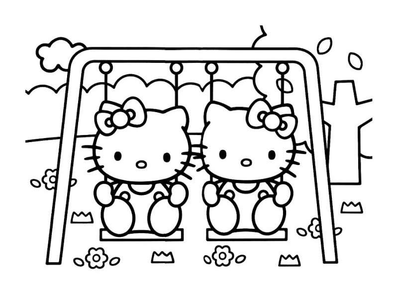 Image De Hello Kitty À Imprimer Et Colorier - Coloriages concernant Coloriage A Imprimer Hello Kitty