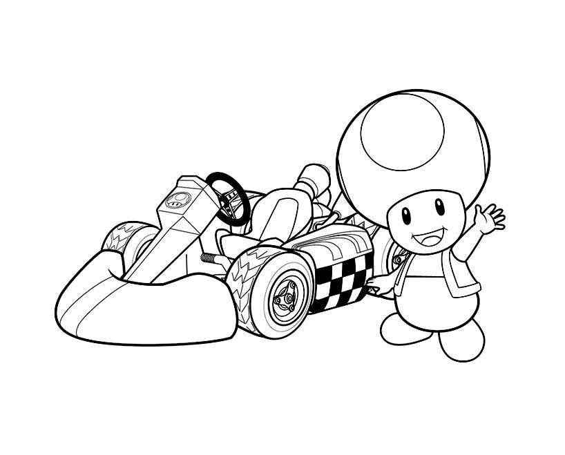 Image De Mario Bros À Télécharger Et Colorier - Coloriage intérieur Dessin De Champignons A Imprimer