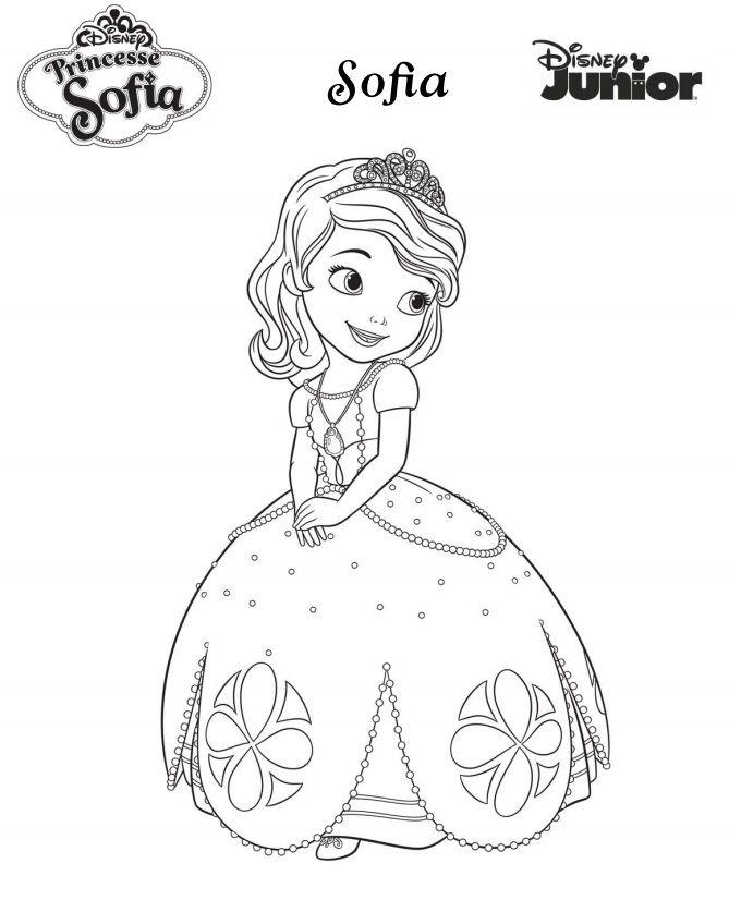 Image Du Tableau Omalovánky De Kristyna Simakova concernant Coloriage En Ligne Princesse Sofia