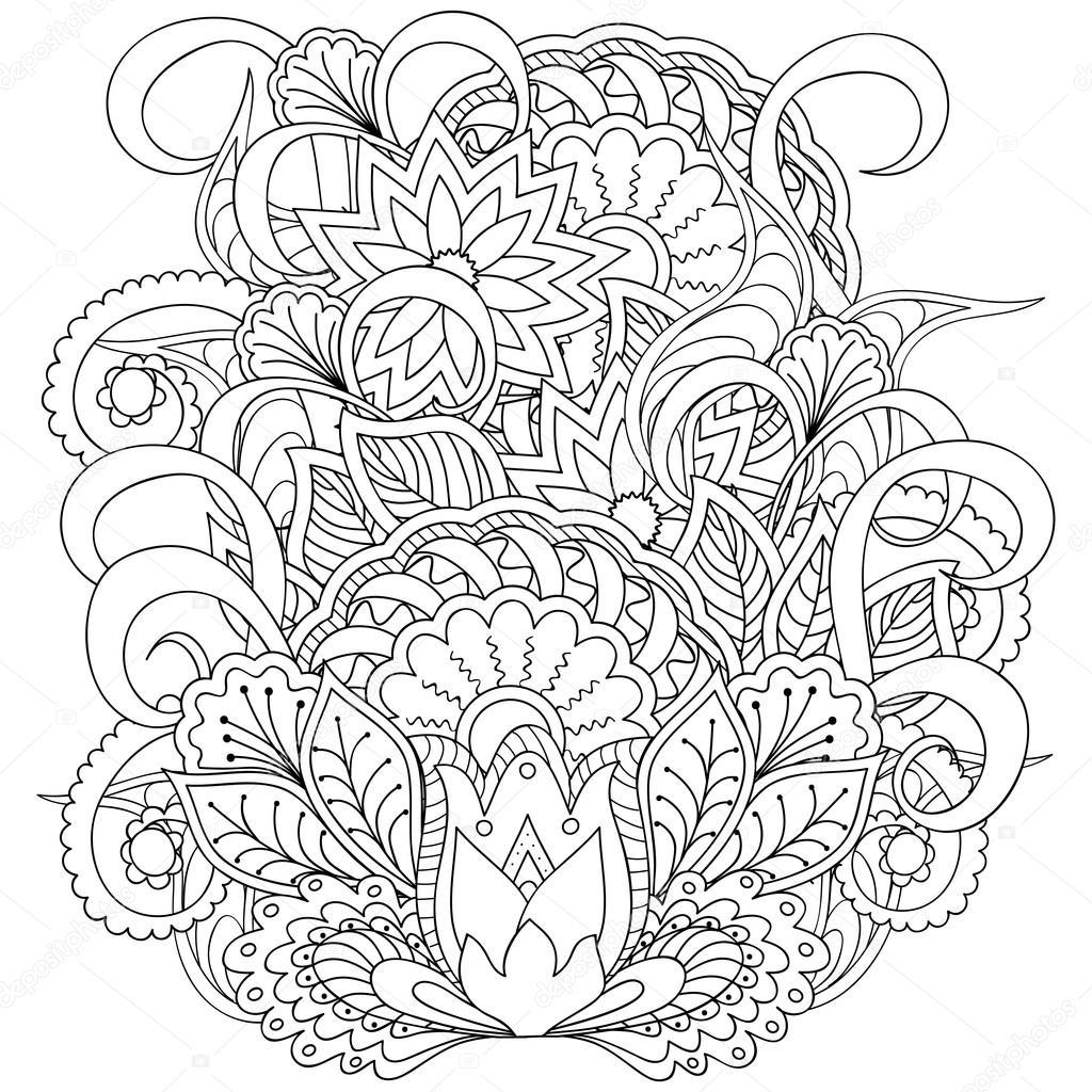 Image Pour Coloriage Adulte — Image Vectorielle Sliplee destiné Coloriage Pour Adulte