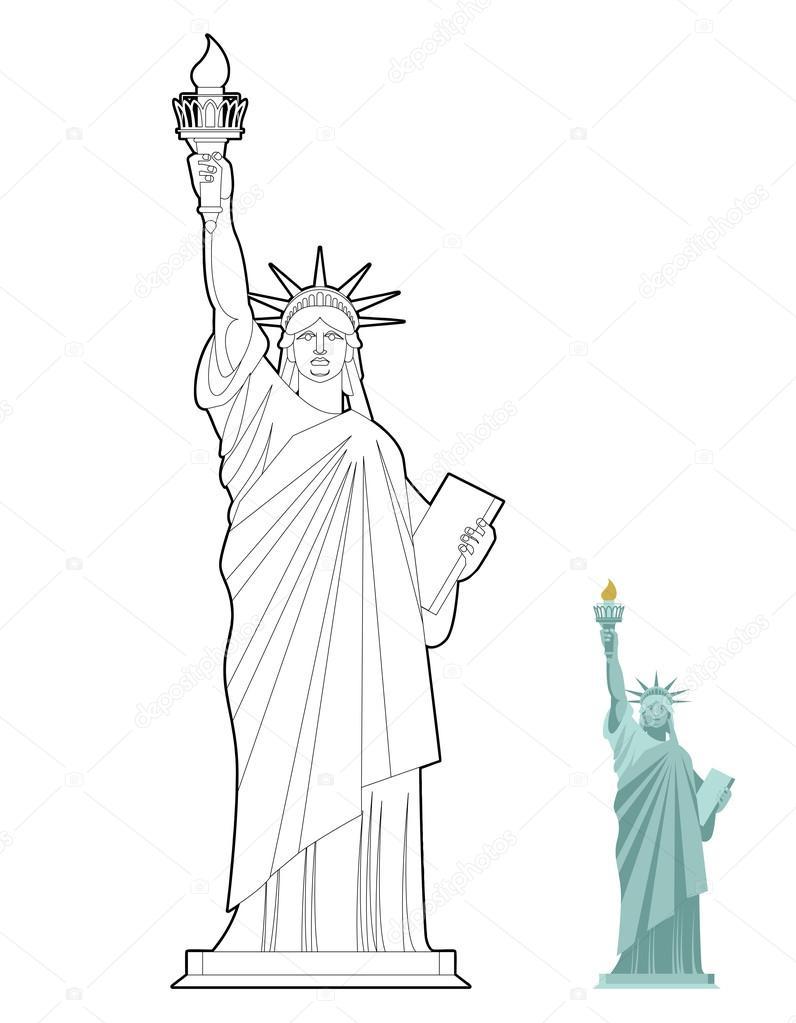Imágenes: Libertad Para Colorear | Estatua De La Libertad tout Statue De La Liberté Dessin